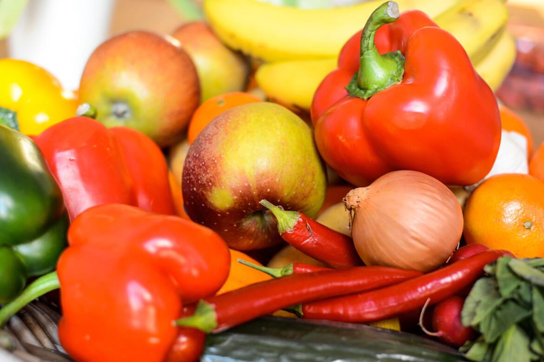 Gemüse mit Obst